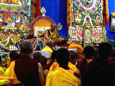 His Holiness the Dalai Lama at a Kalachakra initiation