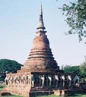 The Wat Sorasak stupa in Thailand